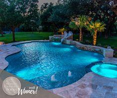 Freeform Pool Designs by Cody Pools in Austin, Houston and San Antonio – Leah Daecher Backyard Pool Landscaping, Small Backyard Pools, Swimming Pools Backyard, Swimming Pool Designs, Outdoor Pool, Pool Decks, Lap Pools, Indoor Pools, Small Pools