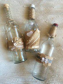 Dekorácie - Dekoračné fľašky - 6971271_