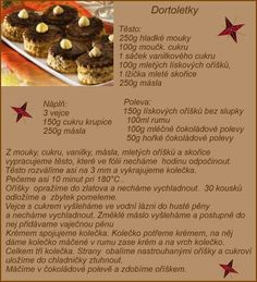 Dortoletky Christmas Candy, Christmas Baking, Christmas Cookies, Christmas Recipes, Czech Recipes, Sushi, Biscuits, Food And Drink, Sweets