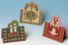This wonderful selection of three cross stitch card kits will certainly brighten up your Christmas card selection. The lovely 3D effect is created by ...