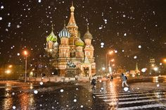 St Basil's Cathedral, on Red Square, Moscow by Tatiana Fomina Great Places, Places To See, Beautiful Places, Amazing Places, Places Around The World, Around The Worlds, St Basils Cathedral, St Basil's, All Of The Lights