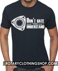 Dont Hate - Mazda Rotary - Graphic Tshirt - Mens Blue Tee - Rx7 -12A 13B Fc Fd3s by ROTARYCLOTHINGSHOP on Etsy