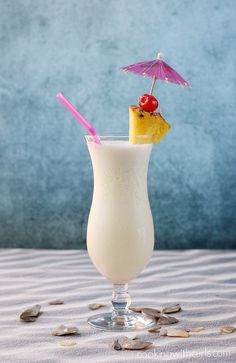 Classic Piña Colada Classic Piña Colada Ounces light rum 2 Ounces* coconut cream (not coconut milk) 4 Ounces pineapple juice 1 cup crushed ice pineapple wedge and maraschino cherry (to garnish) - Fresh Drinks Cocktails Made With Rum, Refreshing Summer Cocktails, Fancy Drinks, Fun Cocktails, Summer Drinks, Cocktail Drinks, Alcoholic Drinks, Drinks With Malibu Rum, Pina Colada Recipe Non Alcoholic