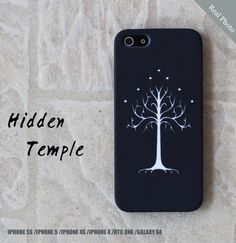 White Tree of Gondor iPhone Case, Lord Of The Ring iPhone Case, Case for iPhone 4 4s 5 5s Samsung Galaxy S4 HTC ONE Plastic hard case on Etsy, £12.16