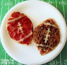 Kitchen Fun With My 3 Sons: Football Pita Pizzas