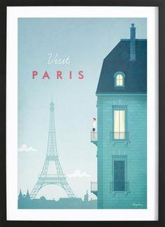 Paris als Gerahmtes Poster von Henry Rivers | JUNIQE