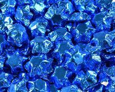 A bulk Foiled Chocolate Stars Electric Blue box.