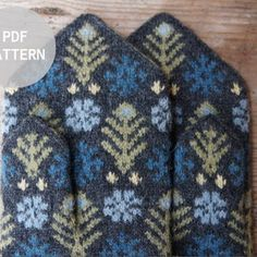 Hand Knit Gray White Wool Mittens Hand Knit Gray White Wool   Etsy Mittens Pattern, Knit Mittens, Knitting Socks, Hand Knitting, Knitting Patterns, Wool Gloves, Knitted Gloves, Fair Isle Knitting, Christmas Knitting