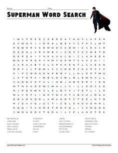 Superman Word Search