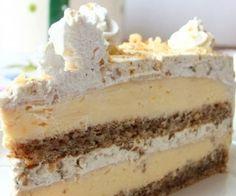 Egyiptomi álom (Egyptian Dream- walnut and vanilla cream cake) Hungarian Desserts, Hungarian Recipes, Esterhazy Torte, Fun Desserts, Dessert Recipes, How To Make Cake, Food To Make, Icebox Cake, Homemade Cakes