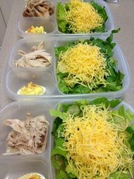 Salad, turkey and deviled eggs for #lunch via The Family #Lunchbox