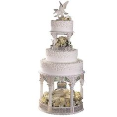 Gazebo Grandeur Cake - Celebrate the birth of love with this gorgeous centerpiece cake. Enhance with the Kolor-Flow Fountain for a romantic touch.