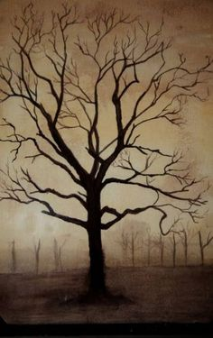 Family Tree Painting On Canvas Leaves Ideas Tree Artwork, Tree Paintings, Painting Trees On Canvas, Abstract Tree Painting, Abstract Trees, Silhouette Painting, Tree Silhouette, Spring Tree, Bare Tree