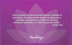 Para cambiar tu vida por fuera debes cambiar tu vida por dentro...