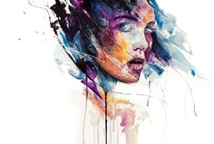 Agnes-Cecile - sheets of colored glass Art Print