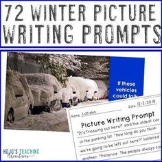 EDITABLE Winter Writing Prompts - Valentine's Day, Black History Month, and MORE |  2nd, 3rd, 4th, 5th, 7th, 8th grade, Activboard Activities, Christmas/ Chanukah/ Kwanzaa, Creative Writing, Fun Stuff, Homeschool, Literacy Center Ideas, Middle School, Writing Picture Writing Prompts, Cool Writing, Writing Lessons, Writing Ideas, Math Lessons, Creative Writing, Interactive Writing Notebook, Ell Students, Winter Pictures
