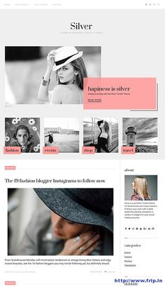 New Theme: Silver WordPress Theme For Fashionistas By Theme Junkie Grab Now: http://www.frip.in/silver-wordpress-theme/