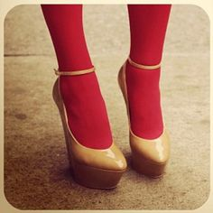 Very pretty heels + red stockings #instagram