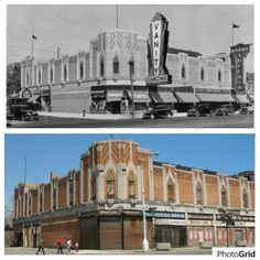 Vanity Ballroom, Detroit. then and now Motor City Detroit, Detroit Rock City, State Of Michigan, Detroit Michigan, Detroit Ruins, Detroit Neighborhoods, Detroit History, As Time Goes By, Rat Fink