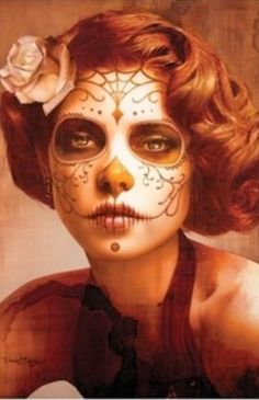 Sugar Skull Makeup and Hair