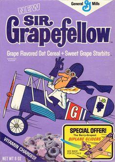 Sir Grapefellow Cereal (General Mills; 1972)