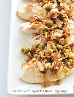 Tilapia with olives