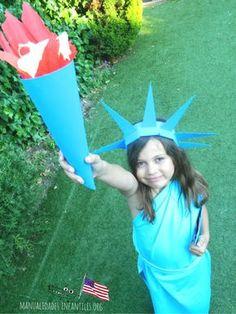 disfraz estatua libertad para niña