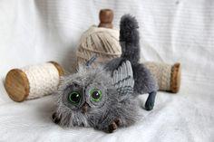 Domestic gryphon kitten - Cria de grifo domestico by AlvaroFuegoFatuo on DeviantArt