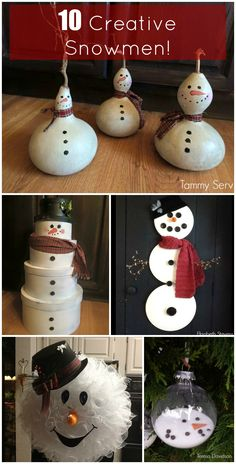 Check out these 10 adorable snowmen created by members of the Grillo Designs Home decorating group!