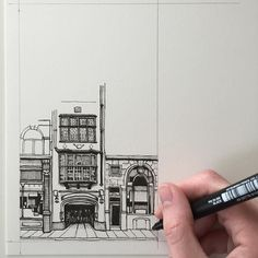 #art #drawing #pen #sketch #illustration #linedrawing #london #city #architecture #building #buildings