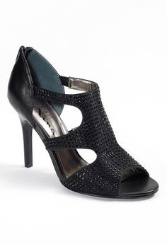Mid-Heel Zipper Back Rhinestone Sandal from Camille La Vie and Group USA