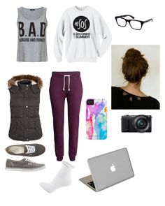 No. 149 by emmurray-md on Polyvore featuring Fat Face, H&M, Topshop, Vans, Valentine Goods, Ray-Ban and Sony