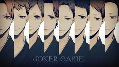 Joker Game (ジョーカーゲーム) Manga Art, Manga Anime, Anime Art, Joker Game Anime, Anime Titles, Wink Wink, Best Series, Jokers, Shiro