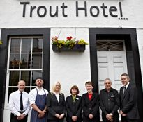 The team from The Trout Hotel good friends of the funkyhen.com team and a great West Cumbrian wedding venue to.