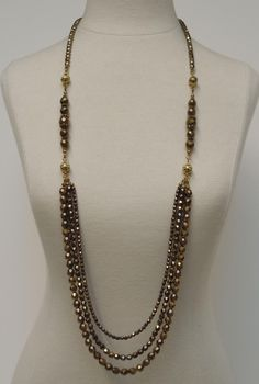 wow, this one can be worn 12 different ways! What a deal! $125  12in1 Antique Gold