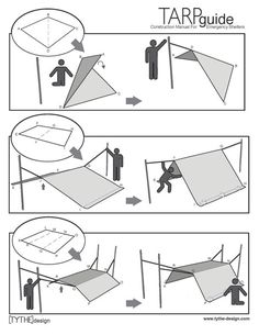 #42 An Illustrated Guide to Building an Emergency Tarp Shelter - Core77