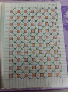 Graph Paper Notebook, Dot Grid Notebook, Graph Paper Drawings, Graph Paper Art, Zentangle, Symmetry Worksheets, Blackwork Patterns, Bargello Quilts, Homemade Quilts