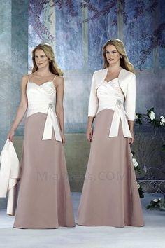 Simple, Chic  Moderne  Chute Longueur ras du Sol Sablier Perle Robe Mère de Mariée #M2115684