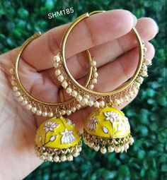 ShoppingHUB Get Closer Traditional Bollywood Retro Goldtone Jhumki Dangle Antique Earrings Jewlery