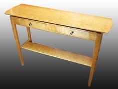 Side Table  Solid Cherry Hardwood by JohnsonFurniture on Etsy
