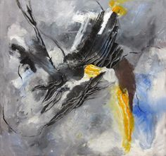 abstract schilderen in zwart wit grijs - Google Search