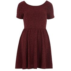 Dorothy Perkins Fit And Flare Dress ($16) ❤ liked on Polyvore featuring dresses, vestidos, red, red body con dress, floral print dress, bodycon dress, fit and flare dress and flower print dress