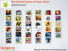 Dozens of fun games for you android phone!