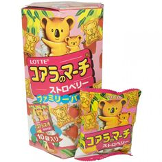 Lotte Koala's March Family Pack (Strawberry) 6.89 oz  (Thailand)