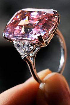 """Graff Pink Diamond. Rivalling the Steinmetz Pink is the Graff Pink, a 24.78-carat emerald-cut diamond once owned by the jeweler Harry Winston. But in 2010, the Fancy Intense Pink gem went up for auction, which caused David Bennett, director of the international jewelry department at Sotheby's, to gush: """"I cannot exaggerate just how rare this stone is. This sale is one of the most exciting of my 35-year career. It is one of the most desirable diamonds ever to come to auction."""""""