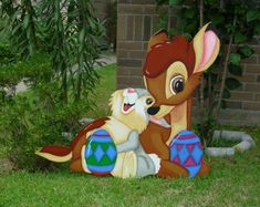 Hey, I found this really awesome Etsy listing at https://www.etsy.com/listing/225144948/bambi-and-thumper-easter-wooden-yard