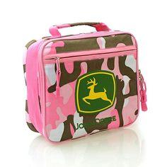 John Deere Horse Pink Children/'s Kid/'s Backpack Lunchbox NWT