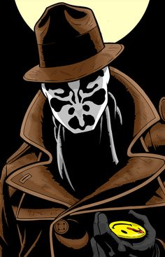 Rorschach Watchmen Series by Thuddleston on DeviantArt Comic Book Characters, Marvel Characters, Comic Character, Comic Books, Rorschach Art, Watchmen Rorschach, Manhattan, Chica Gato Neko Anime, Villainous Cartoon