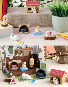 These quirky and cute cat ornament figurines are based on characters from the popular Japanese mobile game, Neko Atsume. Now you can collect them not just in your virtual backyard! By Bandai. Crazy Cat Lady, Crazy Cats, Diy Cat Toys, Cat Themed Gifts, Cat Cushion, Neko Cat, Kitty Games, Classic Toys, Cute Cats