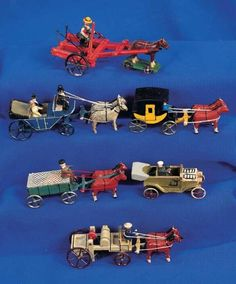 Puppen & Spielzeug Museum: 391 Six German Miniature Wooden Toys
